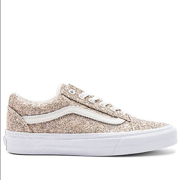 093000291e Chunky Glitter Old Skool Sneaker Metallic Silver